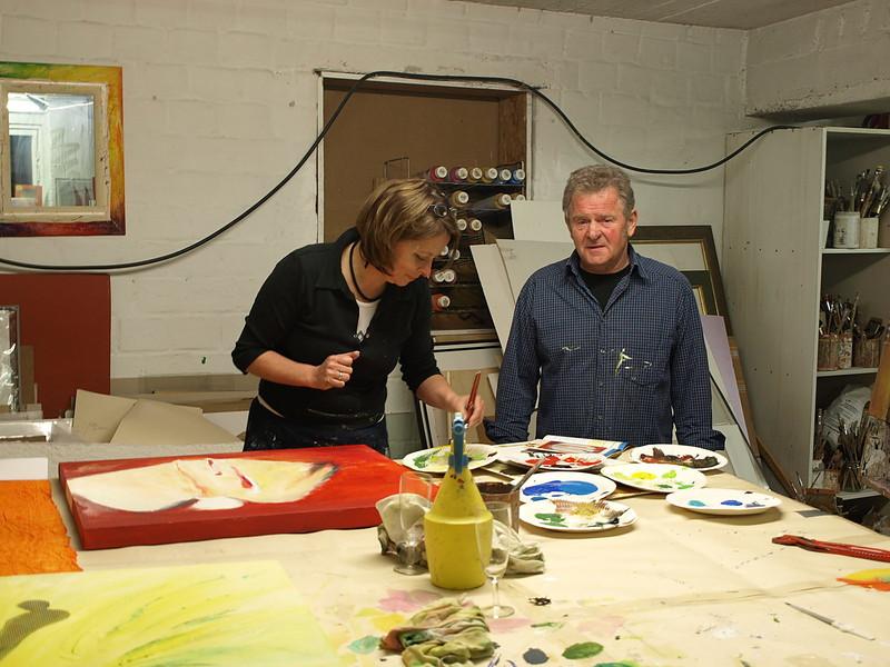 Atelier Impressionen Andreas Alba Kunst